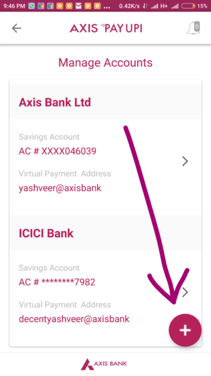 Axis Pay UPi App Offer