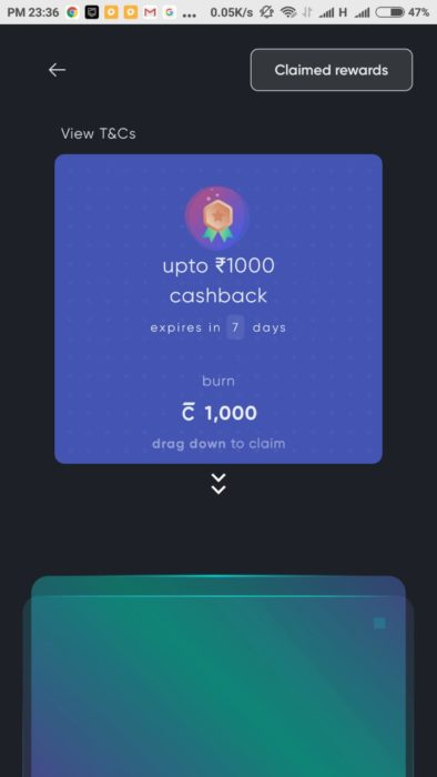 Cred App - Scratch Card Offer